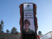Promote your brand on the back - Go Scouts!
