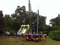 Bungee Trampoline and Inflatable Slide